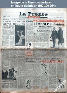 LA PRESSE PAYSAGE  numéro 110 du 23 décembre 1947