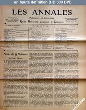 LES ANNALES POLITIQUES ET LITTERAIRES  numéro 1191 du 22 avril 1906