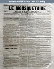 LE MOUSQUETAIRE  numéro 319 du 10 octobre 1854