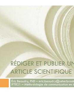 ift821-2011E-ArticleScientifique.pptx