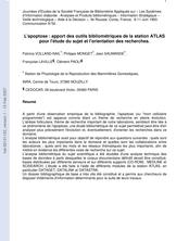 L'apoptose : apport des outils bibliométriques de la station ATLAS pour l'étude du sujet et l'orientation des recherches