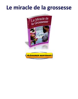 Le Miracle de la Grossesse Lisa Olson PDF Gratuit