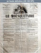 LE MOUSQUETAIRE  numéro 318 du 14 novembre 1855