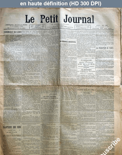 LE PETIT JOURNAL  numéro 14874 du 05 mai 1902