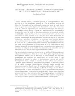 Une des principales conclusions de plus de trois ans de recherches sur le développement local est  la nécéssité dun changement culturel et institutionel