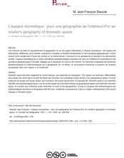 L'espace domestique : pour une géographie de l'intérieur//For an insider's geography of domestic space - article ; n°620 ; vol.110, pg 339-363