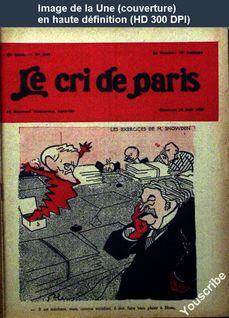 LE CRI DE PARIS  numéro 1690 du 18 août 1929