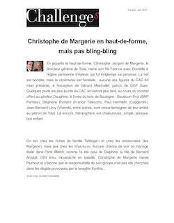 Christophe de Margerie en haut-de-forme, mais pas bling-bling