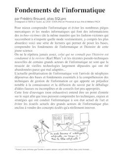 Fondements informatique - SQLPro