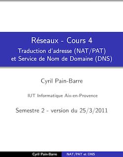 Réseaux - Cours 4 - Traduction d'adresse (NAT/PAT) et Service de ...