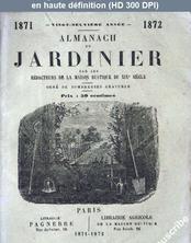 ALMANACH DU JARDINIER du 01 janvier 1872