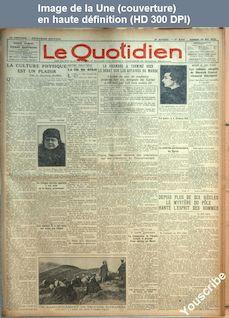 LE QUOTIDIEN  numéro 840 du 30 mai 1925