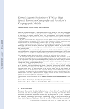 ElectroMagnetic Radiations of FPGAs: High Spatial Resolution Cartography and Attack of a Cryptographic Module
