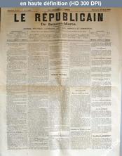 LE REPUBLICAIN DE SEINE ET MARNE  numéro 1088 du 25 mars 1883