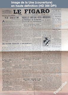 LE FIGARO  numéro 231 du 13 mai 1945