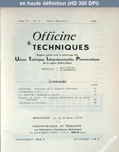 OFFICINE ET TECHNIQUES numéro 4 du 01 janvier 1960