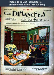 LES DIMANCHES DE LA FEMME  numéro 29 du 24 septembre 1922