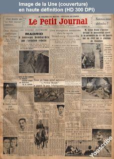 LE PETIT JOURNAL  numéro 26968 du 16 novembre 1936