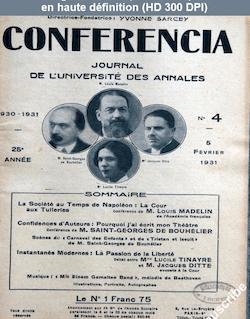 CONFERENCIA numéro 4 du 05 février 1931