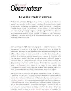 La vodka «made in Cognac»