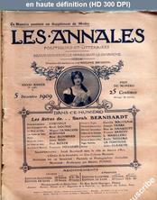 LES ANNALES POLITIQUES ET LITTERAIRES  numéro 1380 du 05 décembre 1909
