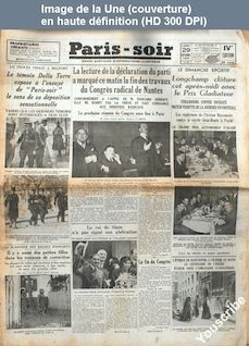PARIS SOIR du 29 octobre 1934