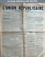 L' UNION REPUBLICAINE DE FONTAINEBLEAU  numéro 1926 du 14 février 1896