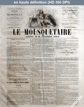 LE MOUSQUETAIRE  numéro 320 du 16 novembre 1855