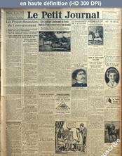 LE PETIT JOURNAL  numéro 22942 du 08 novembre 1925