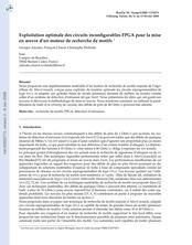 Exploitation optimale des circuits reconfigurables FPGA pour la mise en oeuvre d'un moteur de recherche de motifs