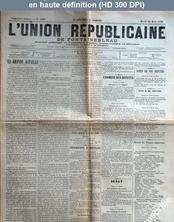 L' UNION REPUBLICAINE DE FONTAINEBLEAU  numéro 1936 du 24 mars 1896