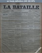 LA BATAILLE  numéro 805 du 29 mars 1891