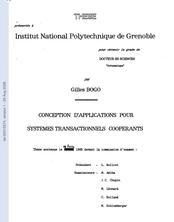 Conception d'applications pour systèmes transactionnels coopérants