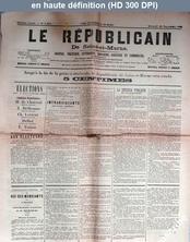 LE REPUBLICAIN DE SEINE ET MARNE  numéro 1465 du 19 septembre 1885