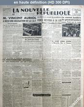 LA NOUVELLE REPUBLIQUE  numéro 1004 du 06 décembre 1947