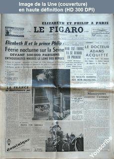 LE FIGARO  numéro 3917 du 10 avril 1957