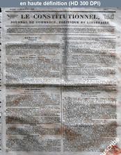 LE CONSTITUTIONNEL  numéro 347 du 13 décembre 1825