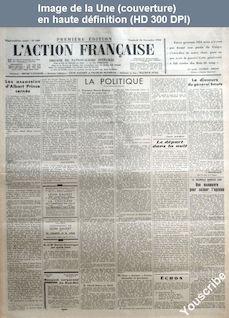 L' ACTION FRANCAISE  numéro 320 du 16 novembre 1934
