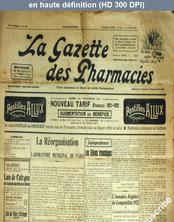 LA GAZETTE DES PHARMACIES  numéro 96 du 14 octobre 1921