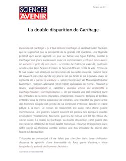 La double disparition de Carthage