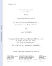 Instabilités de Rayleigh-Bénard-Marangoni, induites par évaporation, en régime transitoire. Applicatons aux solutions polymères