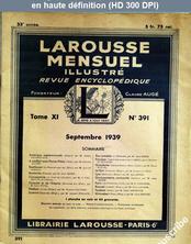 LAROUSSE MENSUEL ILLUSTRE numéro 391 du 01 septembre 1939