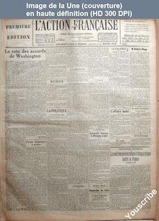 L' ACTION FRANCAISE  numéro 190 du 10 juillet 1923