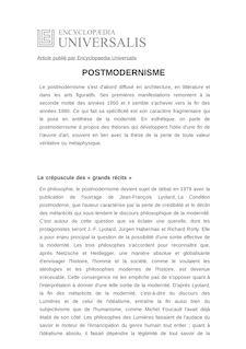 D finition et synonyme de postmodernisme carla canullo for Architecture definition philosophique