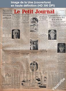 LE PETIT JOURNAL  numéro 23313 du 14 novembre 1926