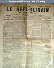LE REPUBLICAIN DE SEINE ET MARNE  numéro 715 du 15 octobre 1880