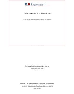 Décret n°2009-1634 du 24 décembre 2009