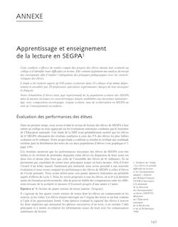 Apprentissage et enseignement de la lecture en SEGPA1