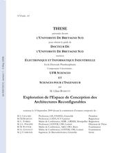 Exploration de l'Espace de Conception des Architectures Reconfigurables