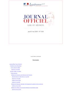 JORF n°106 du 6 mai 2004